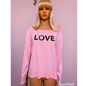 New Victoria's Secret PINK Sequins Long-Sleeve Top